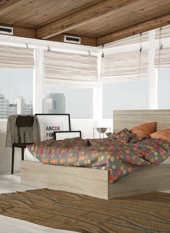 DORMITORIO READY AMBIENTE 304 CAMBRIA/BLANCO
