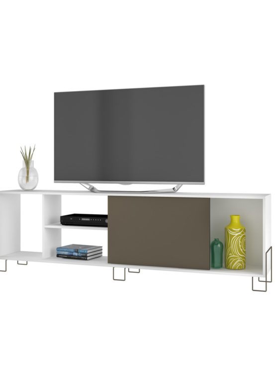 Mesa TV RIO 1P corr. [MT-300] 56x180x29 Blanco