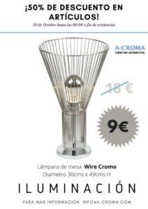 Lee más sobre el artículo Lámpara mesa Wire Cromo